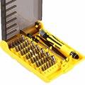 Reparto estupendo de Precisión 45 En 1 Destornillador Torx MIni Magnética Conjunto de herramientas Kit de Herramientas de Mano Herramientas de Reparación De PC Con la Caja Del Teléfono