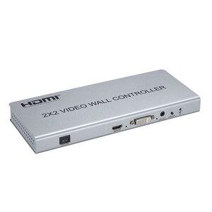 Image 5 - Novo 2x2 controlador de parede de vídeo 1 hdmi/dvi entrada 4 saída hdmi 1080 p processador de vídeo suporte 1x2/2x1/3x1/1x4/4x1 com rs232