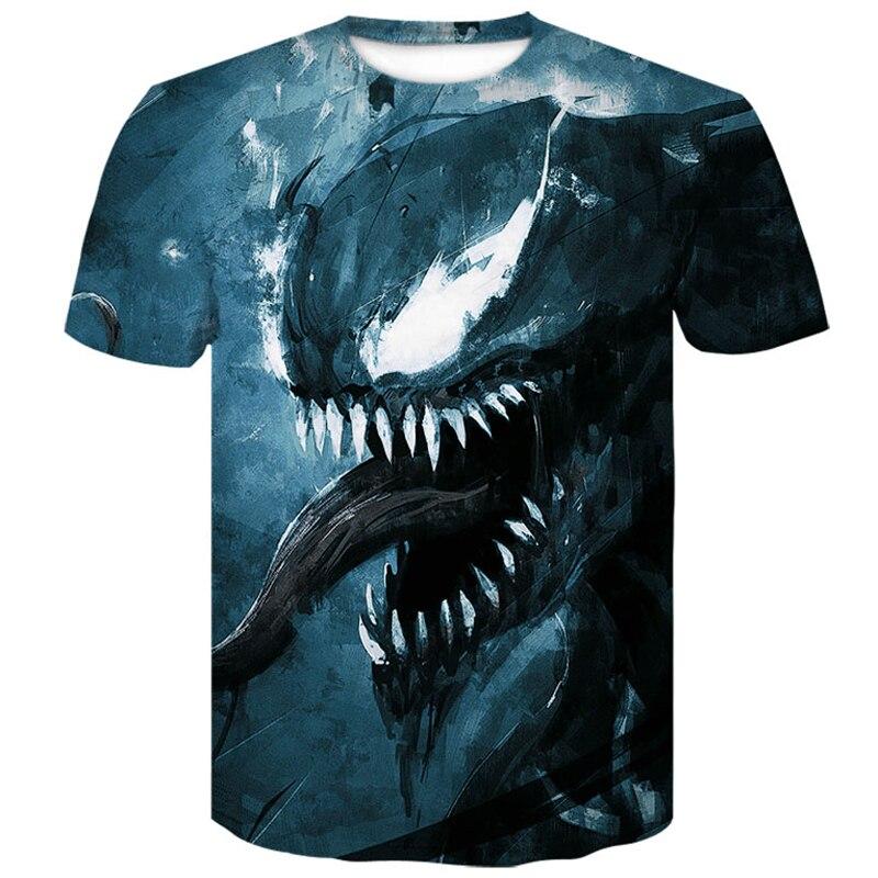 Newest Venom t shirt 3D Printed T shirts Men Women summer 2019 Casual Shirt Short Sleeve Fitness funny T Shirt Tees Tops M XXXXL in T Shirts from Men 39 s Clothing