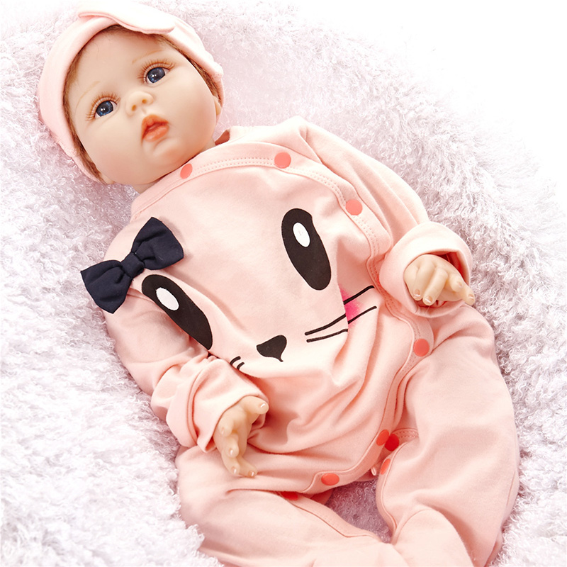 Reborn Doll with Cute Soft Dolls Clothes Alive Baby Dolls Toys for Children 3 years Boneca Reborn Silicone SB5517 Boneca-reborn 15 real rebron babies boneca silicone reborn baby dolls with clothes cute newborn baby doll educational toys for children