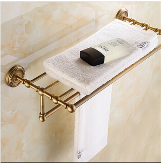 High Quality Antique Bronze Fixed Bath Towel Holder Towel Rack Holder for Hotel or Home Bathroom Storage Rack Rail Shelf antique fixed bath towel holder brass towel rack holder for hotel or home bathroom storage rack black oil brushed towel shelf