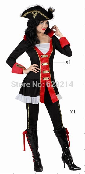 Free shipping - 2016 New Party Clothing Carnival Cosplay Costumes For Women Knitted Sexy Period Costumes Black Color