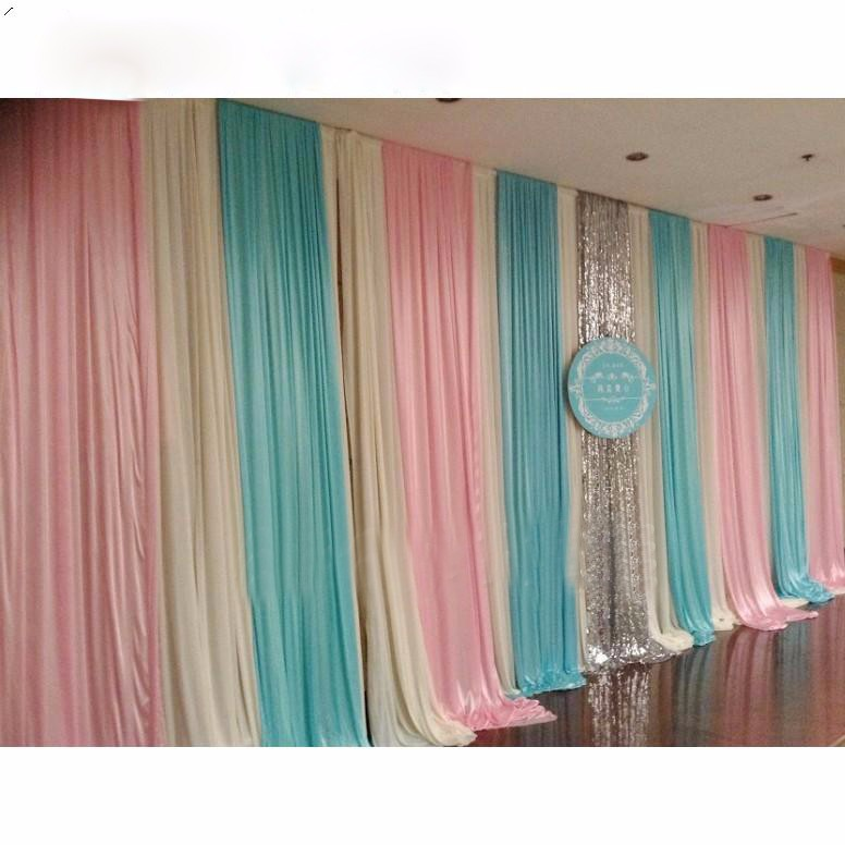 Free Shipping Personalised Color 10ft by 20ft (3X6M) Wedding Party Backdrop Curtain Kid's Party Birthday Decor