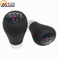Real Leather 5 6 Speed Car Shift Stick Lever With M Logo For BMW E87 E90