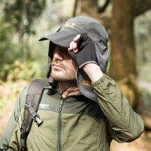 Summer Unisex Sun Hat Face Neck Flap Men Women Hats Face Cover Ear Flap UV Protection Sun Hat Quick-dry Breathable Collapsible