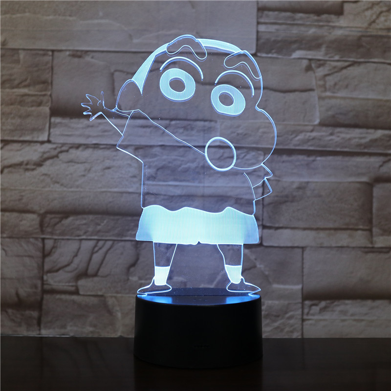 Led Night Light Cartoon Crayon Shin chan Figure Children Kids Boys Gift Manga Japanese Anime Kureyon Shinchan Desk Lamp Bedroom