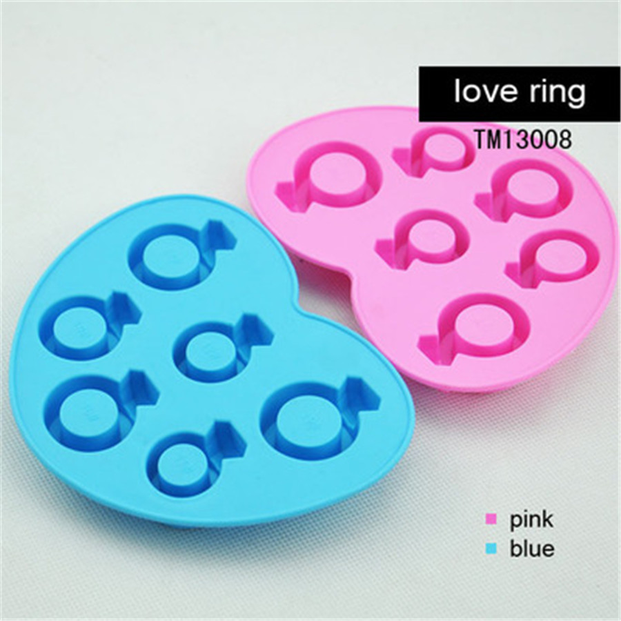 3pcs/Set Ice Tray Diamond Love Ring Ice Cube Style Freeze Ice Mold Ice Maker Mould Special for Hot Summer Drinking Tool