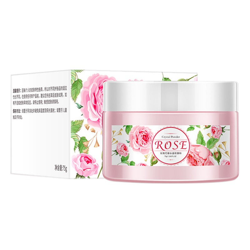 2018 New Natural Organic Rose Petal Crystal Soft Powder Brighten Skin Tone Moisturizing Mask Powder Face Care H
