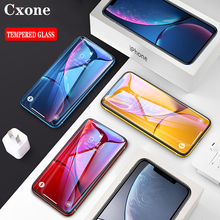 Cxone 15D Curved Full Cover Screen Protector Glass For iPhone 7 8 6s Plus X Tempered XR XS MAX Protective