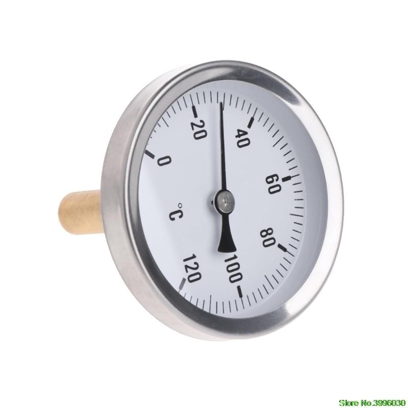 63mm dial horizontal termômetro medidor de temperatura de alumínio água líquida