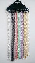купить 12PCS Women Glasses Chain Cord Holder Neck Strap Metal Eyeglasses Eyewear Chains Neck Rope Multi Color по цене 267.67 рублей