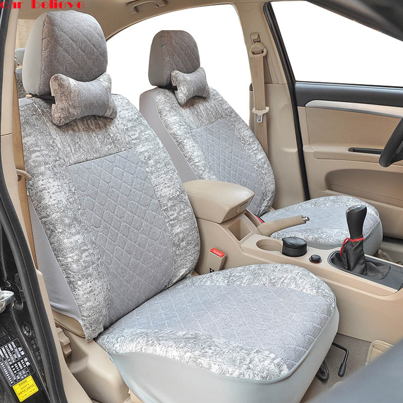 Car Believe Auto Leather Seat Cover For Subaru Forester Impreza Xv Outback Accessories Covers