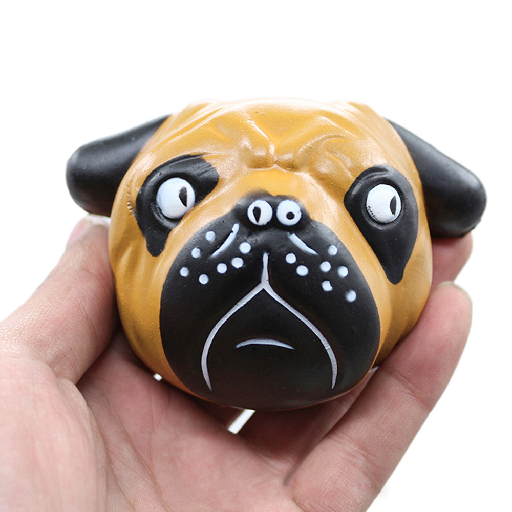 Exquisite Fun Crazy Dog Scented Squishy Charm Slow Rising 8cm Simulation Kid Toy Antistress squishies Animal dog toys Drop ship