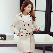 Spring Trench Coat Double Breasted  Long Sleeve Women Windbreakers For Plus Size 5XL Overcoat