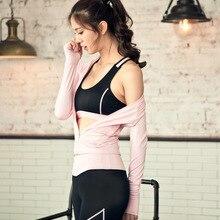 New Professional Women's Tight Yoga Sport Sets Elastic Bra 3 Piece Sportswears Fitness Coats Gym Workout Sporting Leggings153