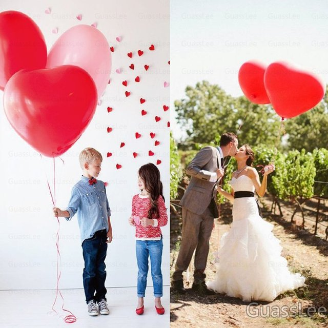 50pcs Lot 36 Giant Latex Balloons Heart Shaped Helium Balloon Wedding Birthday Party Decoration
