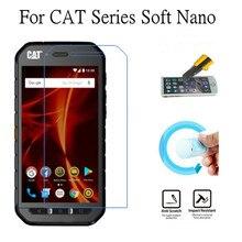 купить Soft Explosion-proof Nano Protection Film Foil For Cat S61 S41 S31 B30 Screen Protector Not Tempered Glass по цене 95.03 рублей