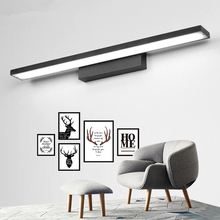 Скандинавские креативные современные светодиодные зеркальные фары Водонепроницаемые влагостойкие ванная комната Алюминий внутреннее освещение AC110-240V