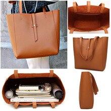 Frauen Mädchen PU Leder Schulter Laptop Tasche Tote Geldbörse Handtasche Umhängetasche 5 Farben Große Mode Taschen
