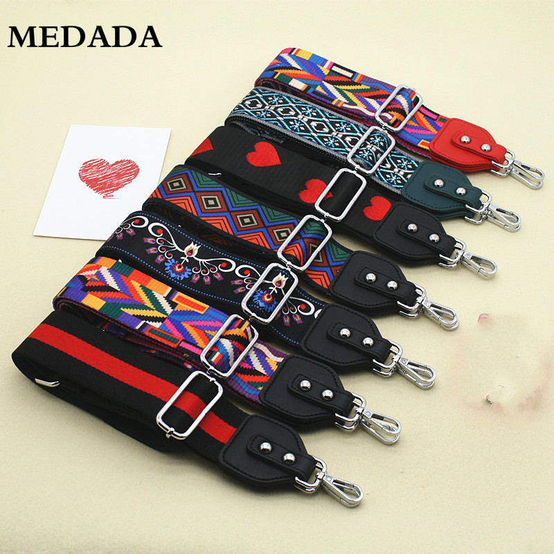 MEDADA  Women's Nylon Cross Body Messenger  Belt For Bag Accessories Bag Strap Handbag Belt Wide Shoulder Bag MD59(China)