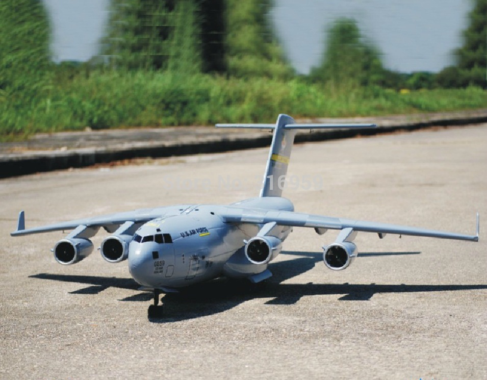 RC самолет C17 AirBUS военный самолет C17 Aieliner 2,4 г 7 CH дистанционного Управление моделирование транспортный самолет электронные Конструкторы