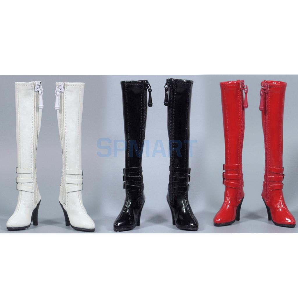 1:6 Women High-heeled Boots Female Shoes for 12/'/' Hot Toys//Phicen Figure DIY