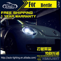 AKD Car Styling Headlight Assembly for VW Beetle Headlights Bi Xenon LED Headlight LED DRL HID Front Lamp Accessories