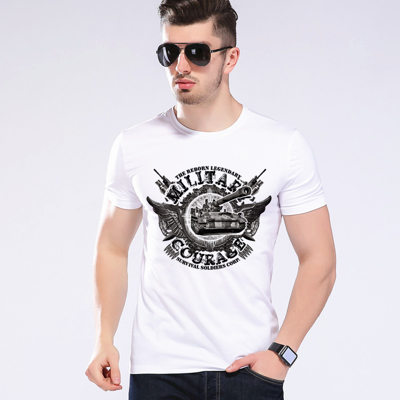 여름 스타일 탱크 T 셔츠 남자의 재미 있은 세계 제조 세계 대전 탱크 T 셔츠 소년 탑 브랜드 티 모에 Cerf H3-4 #