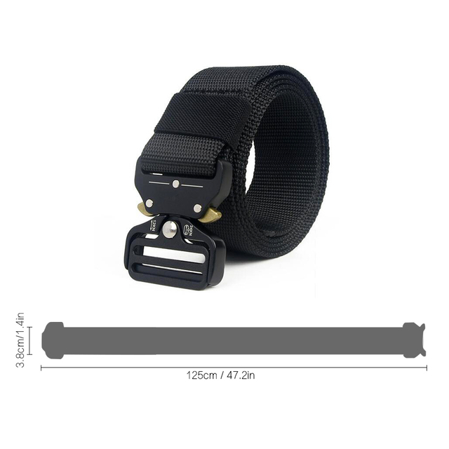 Tactical Belt Men Adjustable Heavy Duty Military Tactical Waist Belts with Metal Buckle Nylon Belt Hunting Accessories 4