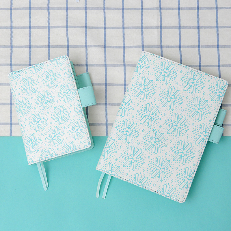 Lovedoki Snowflake A5A6 Planner Mint White Notebook Organizer Diary Monthly Weekly 2018 Agenda Gifts Wholesale Cute Stationery mint planner