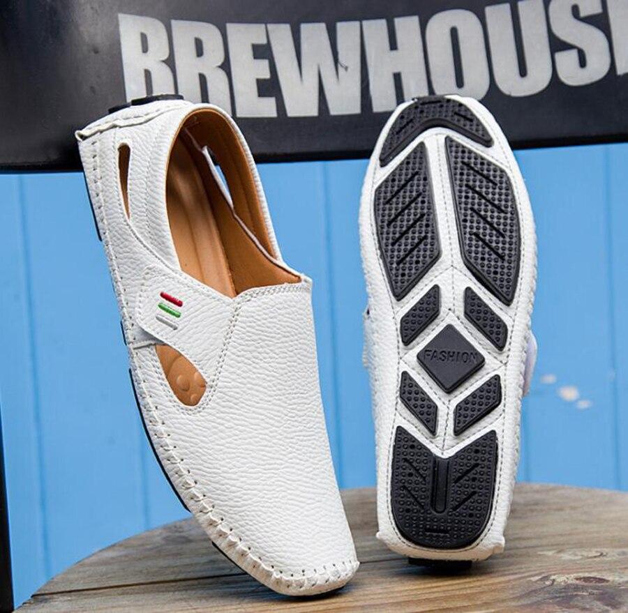 branco Verão Em Peas Sapatos Sapatas Grande Tamanho amp; Novo azul Respirável Deslizamento Explosão Calçados Hook Loop Modelos Preguiçosas Homens Preto Dos Casuais 0rw0q1n