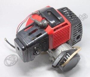 49CC silnik z tworzywa sztucznego Pull E Start 15MM gaźnik Mini kieszeń moto atv quad Buggy rower typu chopper skuter na gaz