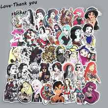 50Pcs/Lot Styling Pvc Waterproof Sexy Beauty Tattoo Girls Stickers For Laptop Motorcycle Skateboard Luggage Decal Toy Sticker(China)