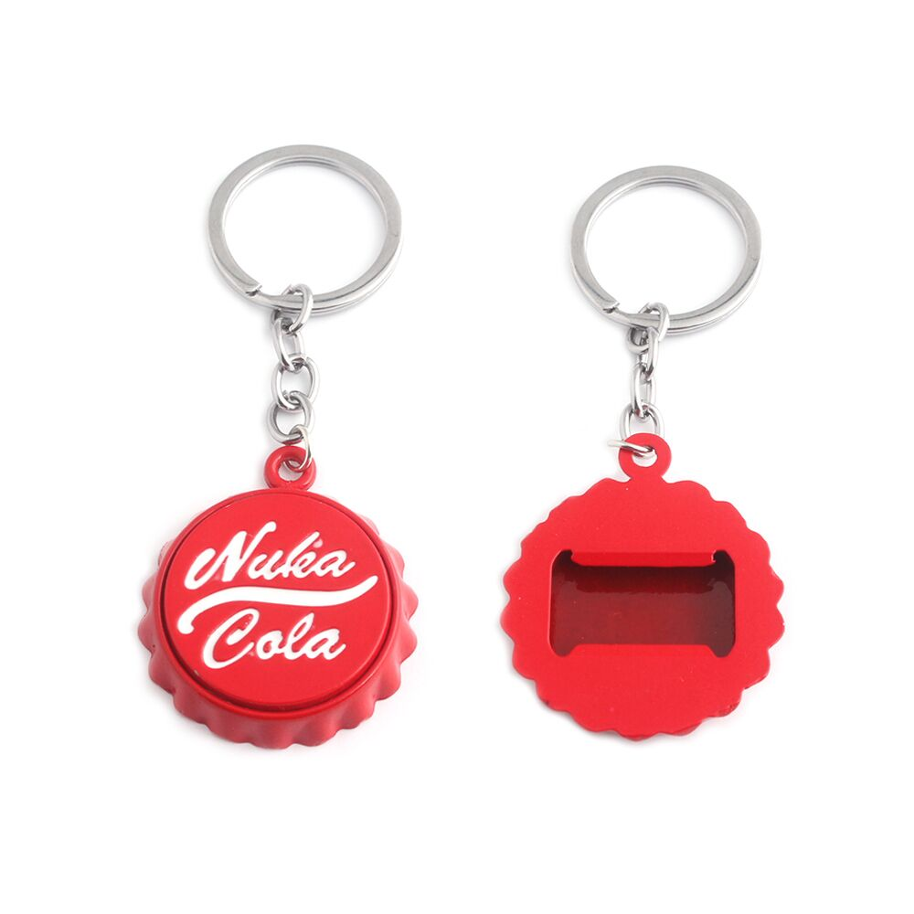 Hot Sale Nuka Cola Sign Keychain High Quality Metal Bottle Cap Bottle Opener Key Chain Men Women Jewelry Gift Free Shipping