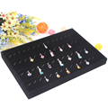 Free Shipping Wholesale 1pcs/lot Black Jewelry Rings Pendants Display Showcase Organizer Tray Box Necklace Display Plate