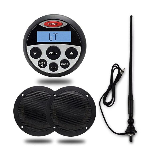 Waterproof Marine Bluetooth Radio Stereo Spa Utv Atv Sound System For Tractor 4