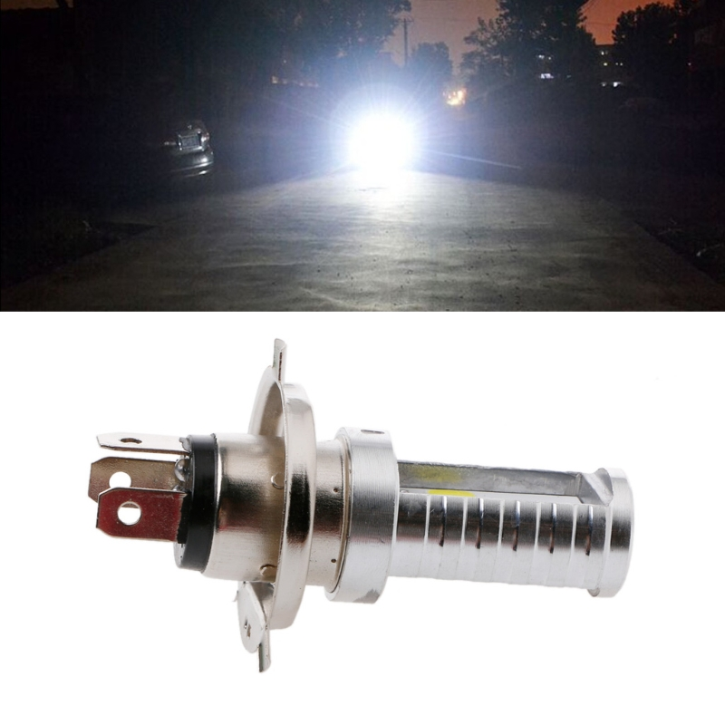 15W H4 Motorcycle Bulb LED Light Lamp Hi/Lo Beam Headlights Headlamp Front Light Bulb For Honda For Kawasaki 6000-6500K 1200LM