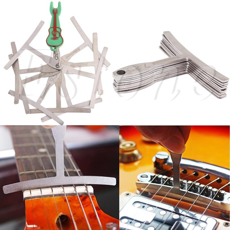 Set of 9 Guitar Understring Radius Gauge For Guitar Bass Setup Luthier Tools