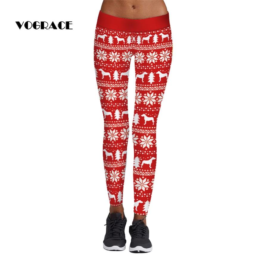 Ehrlich Vograce 2017new Marke Dame Mode 3d Mit Aztec Runde Ombre Schnee Pferde Drucke Silm Hohe Taille Leggings Frauen Hosen