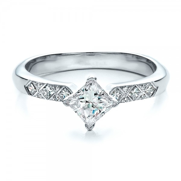 LASAMERO Принцесса Вырезать 0.8CT ASCDSimulated Алмаз Стерлингового Серебра 925 Обручальное Алмаз Обручальное Кольцо Для Женщин
