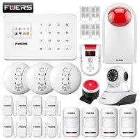 Fuers G18 GSM 99 Беспроводной зоны TFT Цвет Дисплей сирена охранной сигнализации Системы приложение Управление с автодозвон детектор движения Сенс