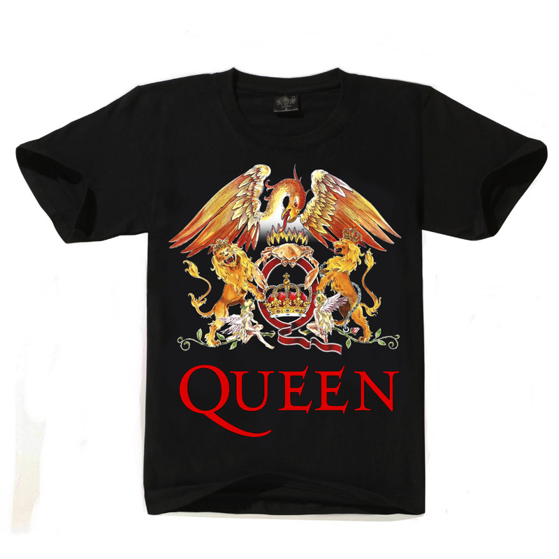 2019 New QUEEN T Shirt Men Short Casual Cotton Print T-shirt Queen Rock Band T Shirts Black T-shirts For Men Streetwear Tshirt