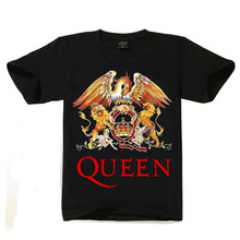 2019 New QUEEN T Shirt Men Short Casual Cotton Print T-shirt Queen Rock Band T Shirts Black T-shirts for Men streetwear tshirt
