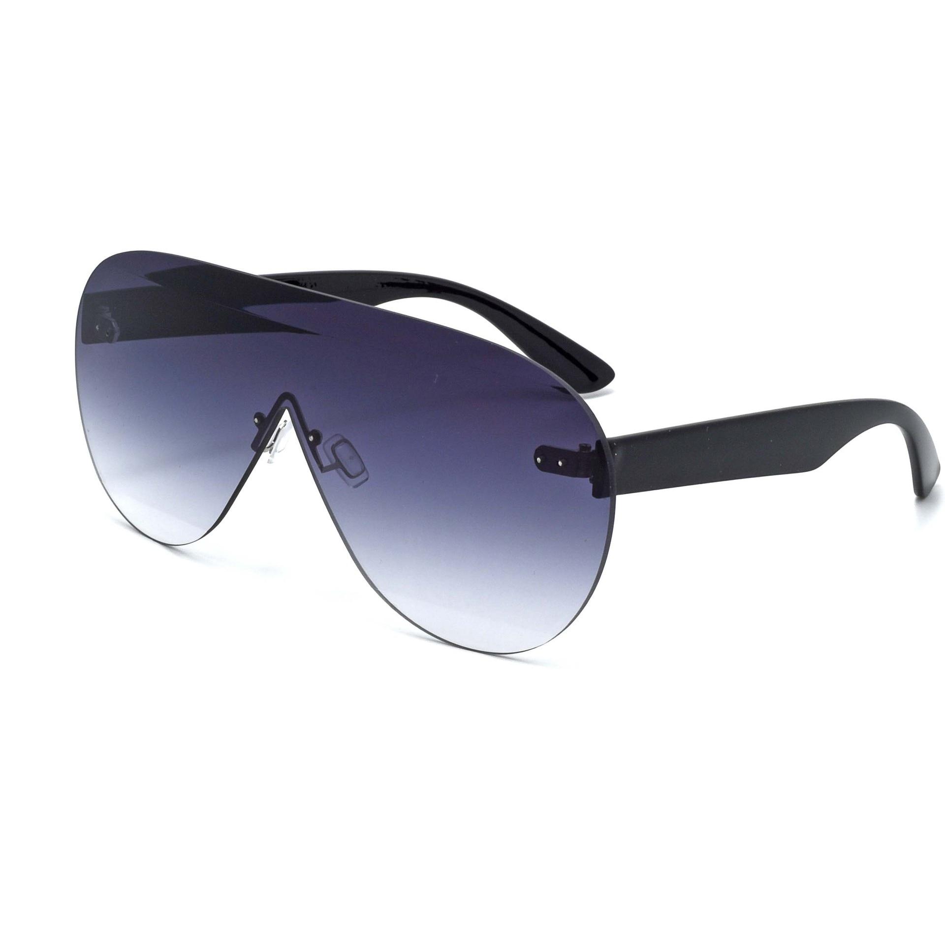 Oversized Shield Women Sunglasses Huge Aviator Frame Polarized Lens Black Brown