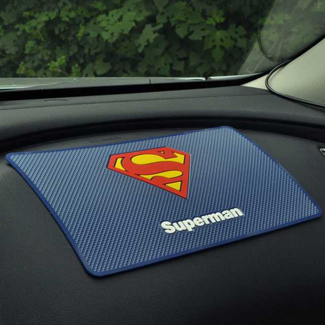 Superman Car Phone Mat Cartoon Car Dashboard Sticky Pad