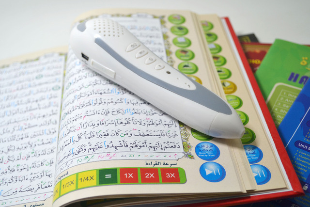 cheap and best selling holy quran reading pen with mp3 and best gifts for children quran pen with holy quran book