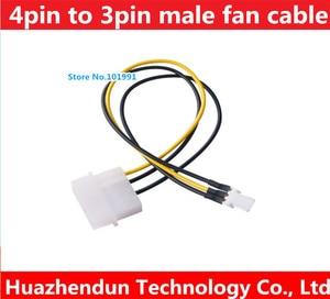 Wiele 4pin Molex męski Port do 3Pin moc wentylatora mężczyzna kabel portu D wtyczka zasilania IDE do 3 pinowe złącze moc kabel zasilający