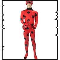 Lady Bug Kids Halloween Girls Miraculous Ladybug Girls Clothing Sets Costumes Ladybug Child Spandex Full Lycra