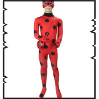 Lady Bug Kids Halloween Girls Miraculous Ladybug Girls Clothing Sets Costumes Ladybug Child Spandex Full Lycra