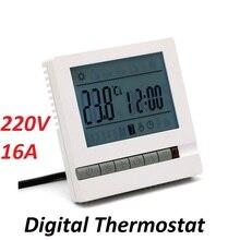 고품질 디지털 바닥 난방 온도 조절기 ac220v 16a 방 따뜻한 온도 컨트롤러